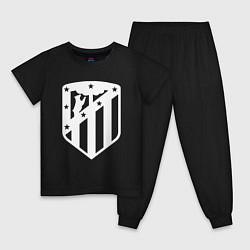 Пижама хлопковая детская FC Atletico Madrid цвета черный — фото 1