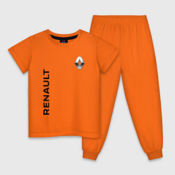 Пижама хлопковая детская Renault Style цвета оранжевый — фото 1
