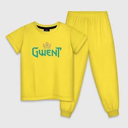 Пижама хлопковая детская Gwent цвета желтый — фото 1