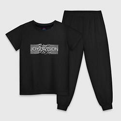 Пижама хлопковая детская Joy Division цвета черный — фото 1