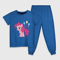 Пижама хлопковая детская Young Pinkie Pie цвета синий — фото 1