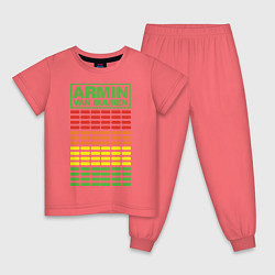 Пижама хлопковая детская Armin van Buuren: EQ цвета коралловый — фото 1