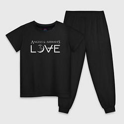 Пижама хлопковая детская Love AVA цвета черный — фото 1