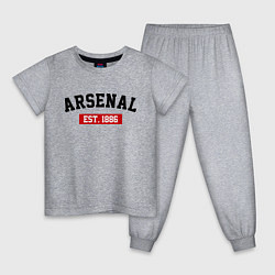 Пижама хлопковая детская FC Arsenal Est. 1886 цвета меланж — фото 1