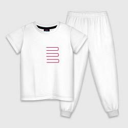 Пижама хлопковая детская Introducing Zhu цвета белый — фото 1