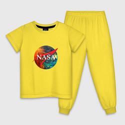 Пижама хлопковая детская NASA: Nebula цвета желтый — фото 1