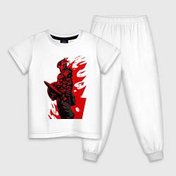 Пижама хлопковая детская Убийца гоблинов цвета белый — фото 1