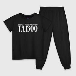 Пижама хлопковая детская Taboo: Denzel Curry цвета черный — фото 1