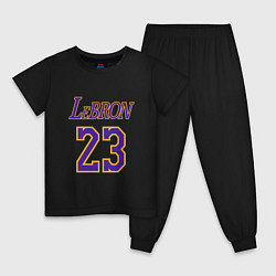 Пижама хлопковая детская LeBron 23 цвета черный — фото 1
