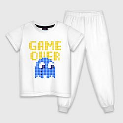 Пижама хлопковая детская Pac-Man: Game over цвета белый — фото 1