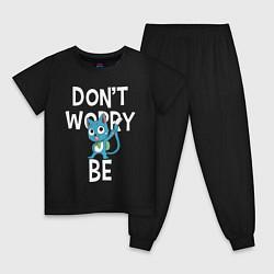 Пижама хлопковая детская Dont Worry be Fairy Tail цвета черный — фото 1