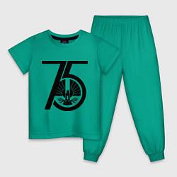 Пижама хлопковая детская The Hunger Games 75 цвета зеленый — фото 1