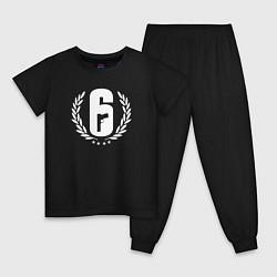 Пижама хлопковая детская R6S PRO LEAGUE цвета черный — фото 1