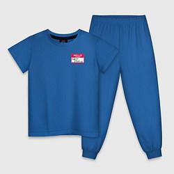 Пижама хлопковая детская Regina Phalange цвета синий — фото 1