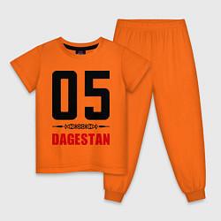 Пижама хлопковая детская 05 Dagestan цвета оранжевый — фото 1