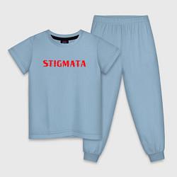 Пижама хлопковая детская Stigmata цвета мягкое небо — фото 1