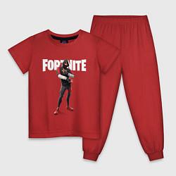 Пижама хлопковая детская FORTNITE IKONIK цвета красный — фото 1