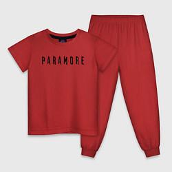Пижама хлопковая детская Paramore цвета красный — фото 1