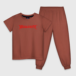 Пижама хлопковая детская Megadeth цвета кирпичный — фото 1