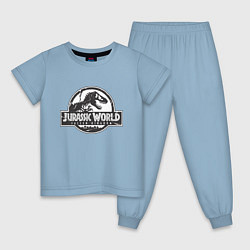Пижама хлопковая детская Jurassic World цвета мягкое небо — фото 1