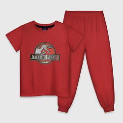 Пижама хлопковая детская Jurassic World цвета красный — фото 1