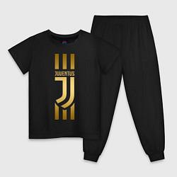 Пижама хлопковая детская JUVENTUS цвета черный — фото 1