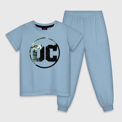 Пижама хлопковая детская Joker цвета мягкое небо — фото 1