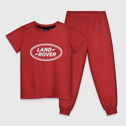 Пижама хлопковая детская LAND ROVER цвета красный — фото 1