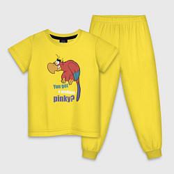 Пижама хлопковая детская Яго цвета желтый — фото 1