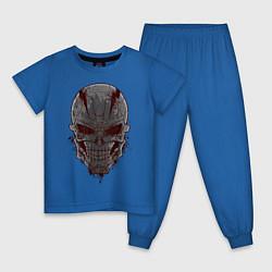 Пижама хлопковая детская Терминатор цвета синий — фото 1