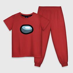 Пижама хлопковая детская Among us цвета красный — фото 1