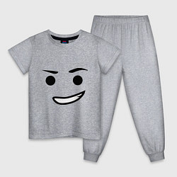 Пижама хлопковая детская Emmet цвета меланж — фото 1