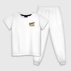 Пижама хлопковая детская Dewey Team цвета белый — фото 1