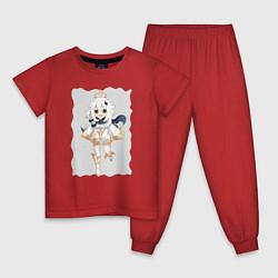 Пижама хлопковая детская Paimon - Genshin Impact цвета красный — фото 1