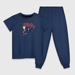 Пижама хлопковая детская My hero! цвета тёмно-синий — фото 1