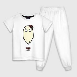 Пижама хлопковая детская Приведение Венди цвета белый — фото 1