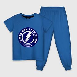 Пижама хлопковая детская HC Tampa Bay Lightning цвета синий — фото 1