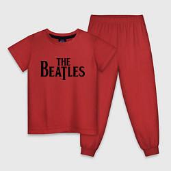 Пижама хлопковая детская The Beatles цвета красный — фото 1