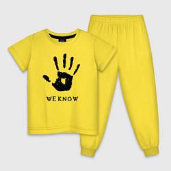 Пижама хлопковая детская We know цвета желтый — фото 1