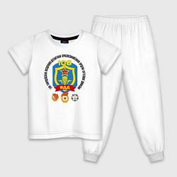 Пижама хлопковая детская 106 ВДД ВДВ цвета белый — фото 1