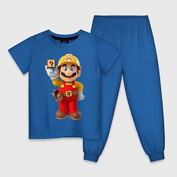 Пижама хлопковая детская Super Mario цвета синий — фото 1