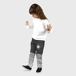 Брюки детские ФК Интер: Серый стиль цвета 3D-принт — фото 2