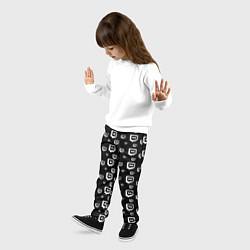 Брюки детские Twitch: Black Pattern цвета 3D — фото 2
