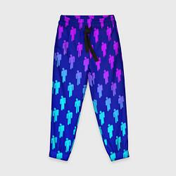 Брюки детские Billie Eilish: Violet Pattern цвета 3D — фото 1