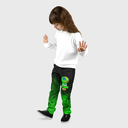 Брюки детские BRAWL STARS LEON цвета 3D-принт — фото 2