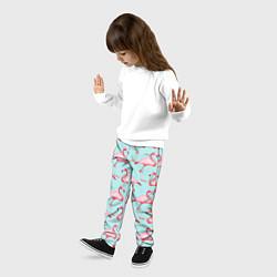 Брюки детские Фламинго цвета 3D — фото 2