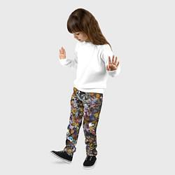 Брюки детские FNaF стикербомбинг цвета 3D — фото 2