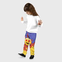 Брюки детские Ты горишь как огонь v1 цвета 3D — фото 2