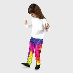 Брюки детские Абстракция цвета цвета 3D — фото 2
