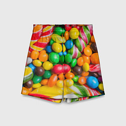 Шорты детские Сладкие конфетки цвета 3D — фото 1